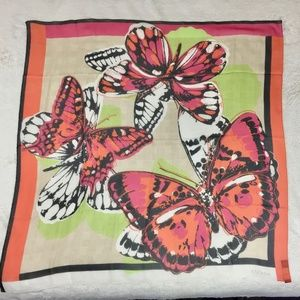 NEW Escada Butterfly 100% silk Scarf Made in Italy